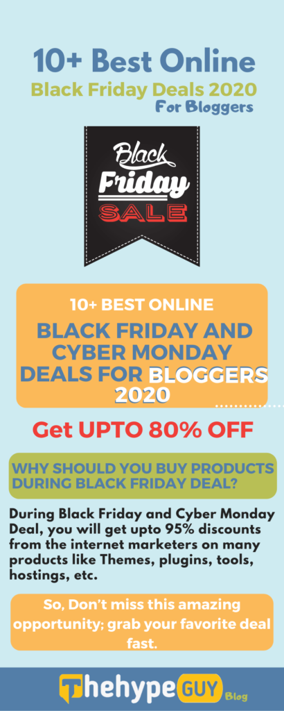 Best Online Black Friday and Cyber Monday Deals for Bloggers 2020 - infographics thgblog