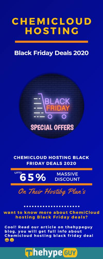 Chemicloud Hosting Black Friday Deals infographics