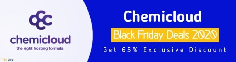 Chemicloud Hosting black friday deals: Get  UPTO 65% Exclusive Discounts