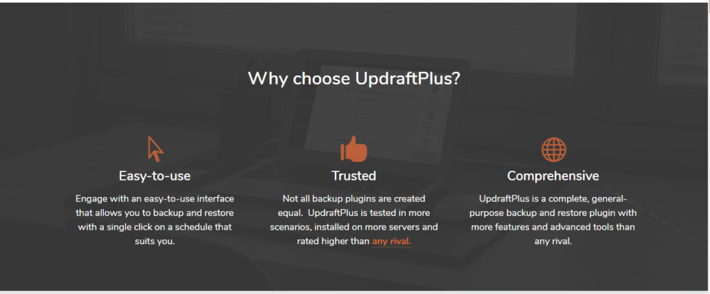 UpdraftPlus Black Friday Deals- why choose ud